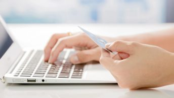 Using a credit card for online shopping